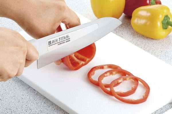 Нож алмазно-титановый Сантоку (универсальный) Forever 160 мм