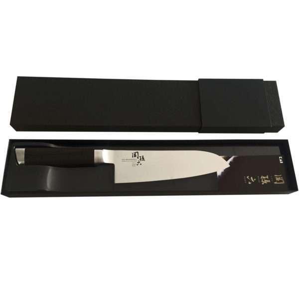 Нож Сантоку KAI Seki Magoroku Damascus 165 мм